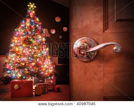 Christmas Tree Surprise Background