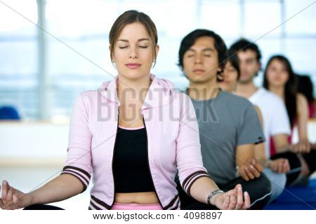 People Doing Meditation