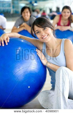 Pilates Frau