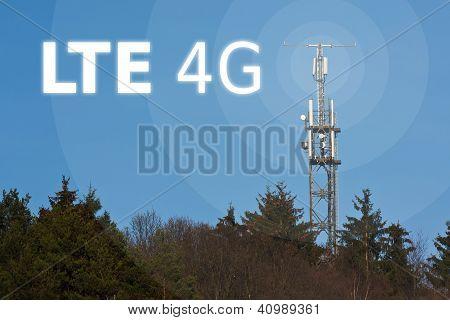 LTE radio mast