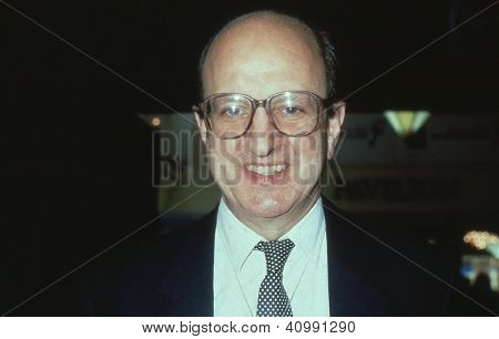 BLACKPOOL, ENGLAND - OCTOBER 10: Michael Neubert, Conservative party Member of Parliament for Romford, attends the party conference on October 10, 1989 in Blackpool, Lancashire.