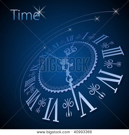 Abstract clock background - conceptual vector