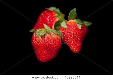 Strawberries on Black