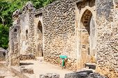 stock photo of watamu  - Gede ruins in Kenya are the remains of a Swahili town typical of most towns along the East African Coast - JPG
