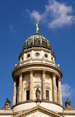 picture of domme  - the French Cathedral domme detail Gendarmenmarkt square Berlin - JPG