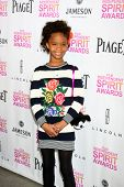 LOS ANGELES - JAN 12:  Quvenzhane Wallis arrives at the 2013 Film Inependent nominees brunch at BOA