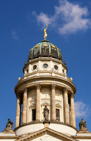 stock photo of domme  - the French Cathedral domme detail Gendarmenmarkt square Berlin - JPG