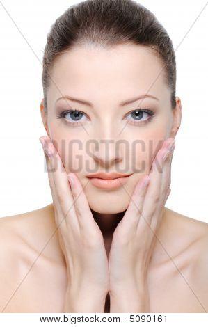 streicheln Gesichtshaut
