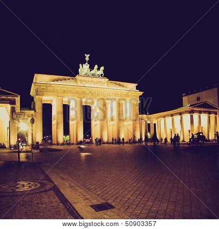 Brandenburger Tor Berlin At Night