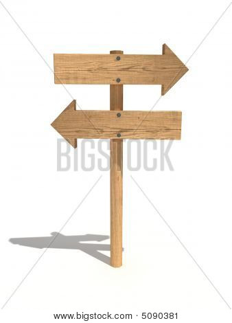 Two Way Wood Sign