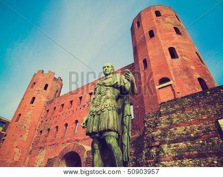 Retro Look Julius Caesar Statue