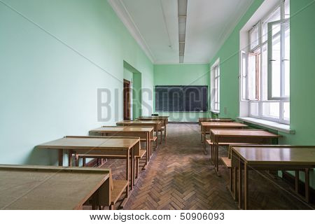 MOSCOW - MAY 15: Classroom in the Faculty of Physics in Moscow State University on May 15,2013 in Moscow, Russia.