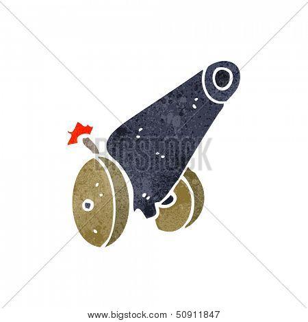 retro cartoon medieval cannon