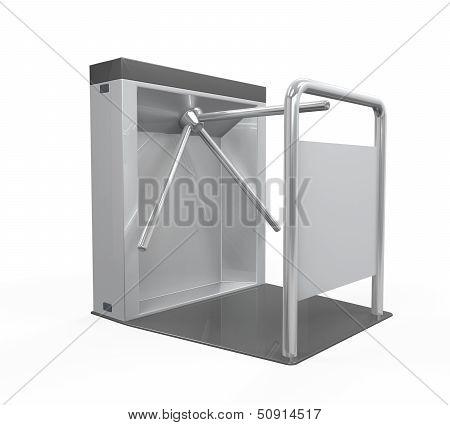 Turnstile Entrance Isolated