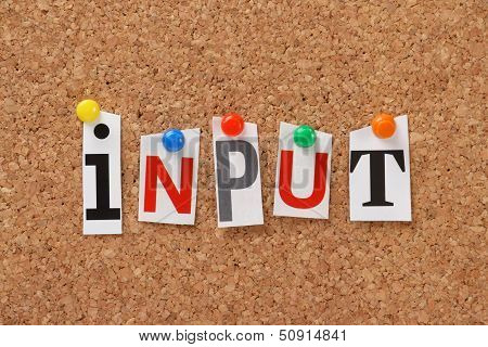 The word Input