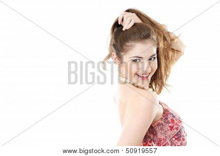 Young Female With Ponytail