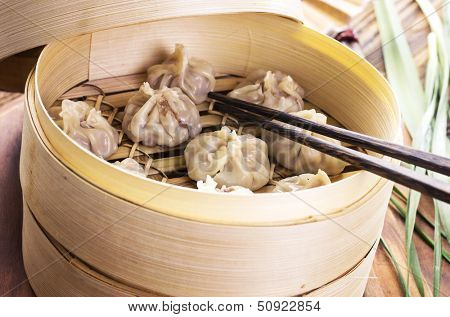 chinese dumpling with filling
