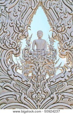 White buddha statue,Wat Rong Khun,Chiang Rai,Thailand.