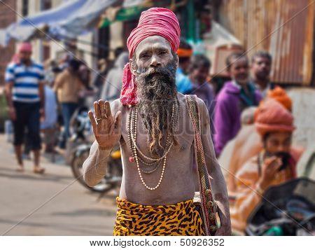 Portrait of a Sadhu in Varanasi, India