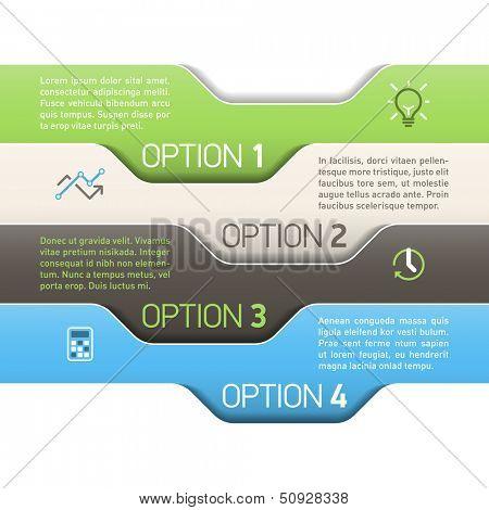 Infographics option design template. Vector.