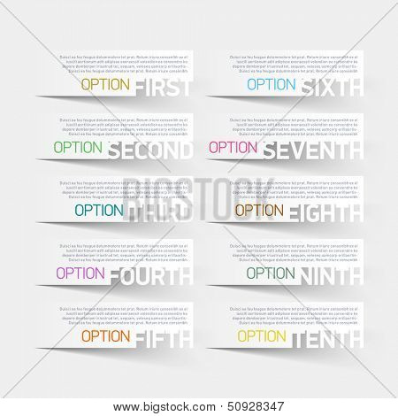 Abstract infographics options design template. Vector.