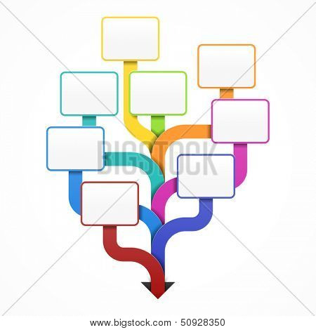 Blank business tree template for design, infographics or presentation. Vector.