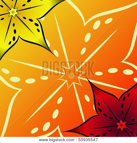beautiful floral background for postcards