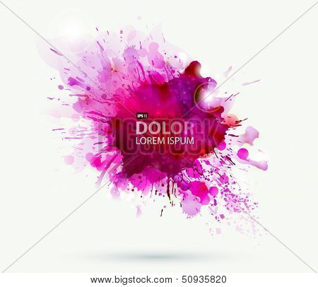 Abstract artistic element forming by blots