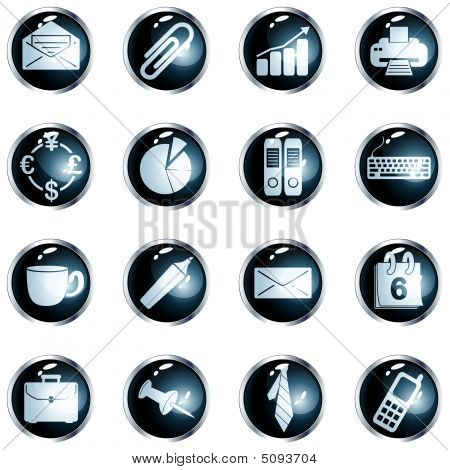 Round High-gloss Office Buttons