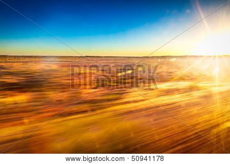 Speed And Fast Movement With Australian Outback As Background