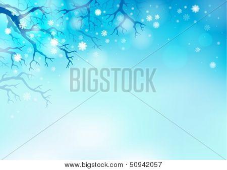 Winter theme background 2 - eps10 vector illustration.