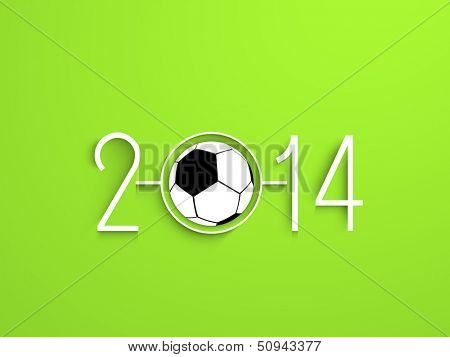 Happy New Year 2014 celebration concept with soccer ball.