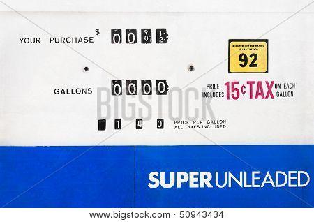 Gas Pump Face