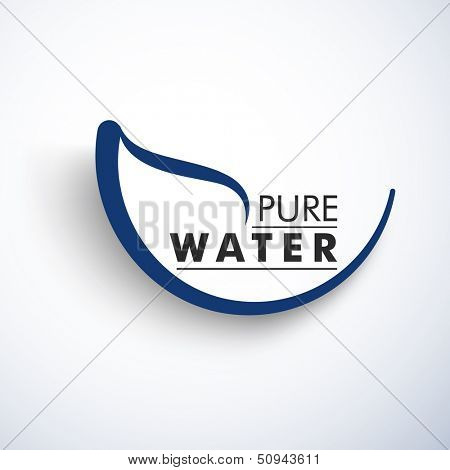 Nature concept with text Pure Water.