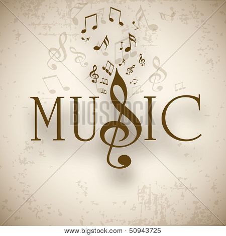 Musical background with musical notes, can be use as flyer, poster or banner in concerts and parties.
