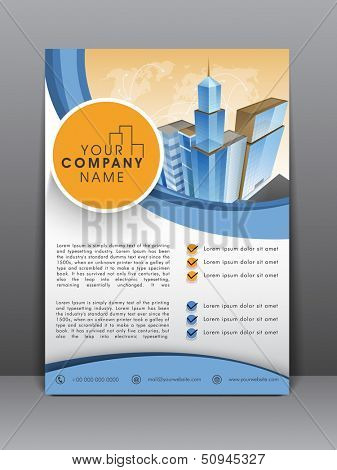 Professional business flyer template or corporate banner design, can be use for publishing, print and presentation