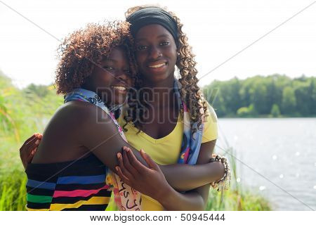 Blackj Sisters In Nature