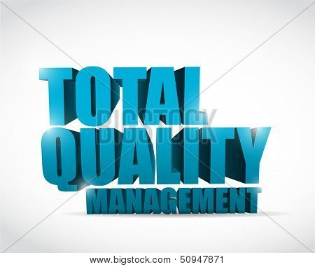 Total Quality Management Text Illustration