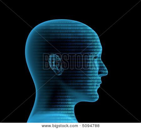 3D Human Profile From A Binary Code