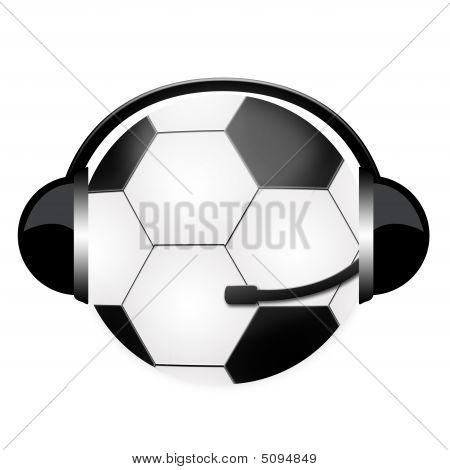 Headphone Sign Football