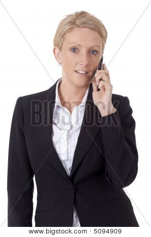 Businesswoman Making A Telephone Call