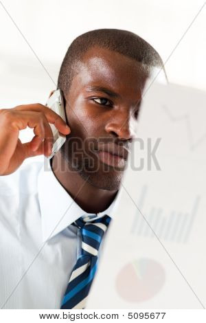 Businessman Examining Documents