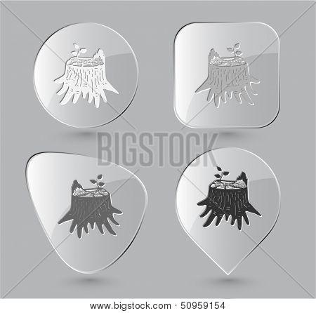 Stub. Glass buttons. Raster illustration.