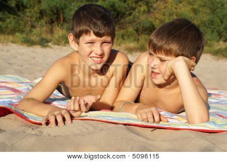 Two Preteen Boys Outdoors