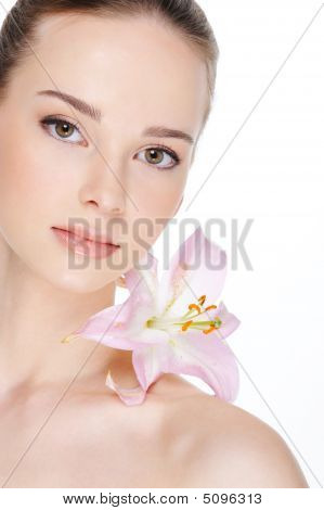 Health Skin Of Beautiful  Woman