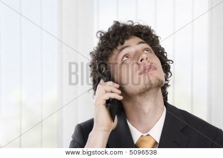 Business Man With Mobile Phone