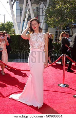 LOS ANGELES - SEP 15:  Katharine McPhee at the Creative Emmys 2013 - Arrivals at Nokia Theater on September 15, 2013 in Los Angeles, CA