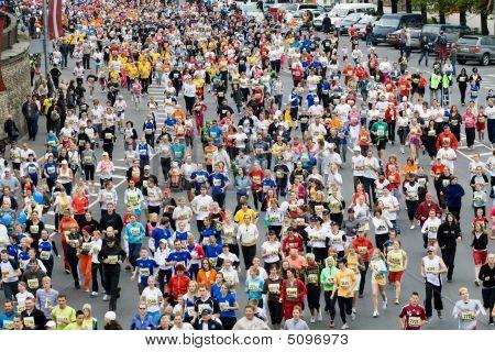 Mini-Marathon-Läufer