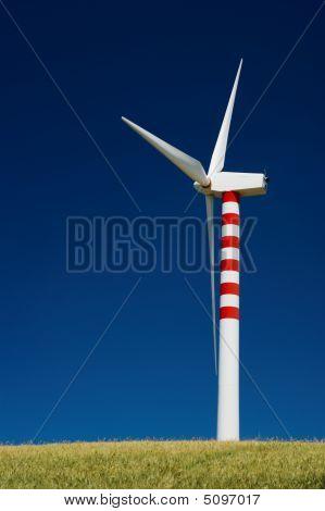 Turbina de viento solo