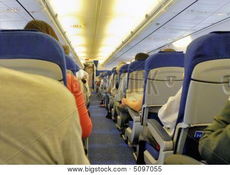in einem Flugzeug